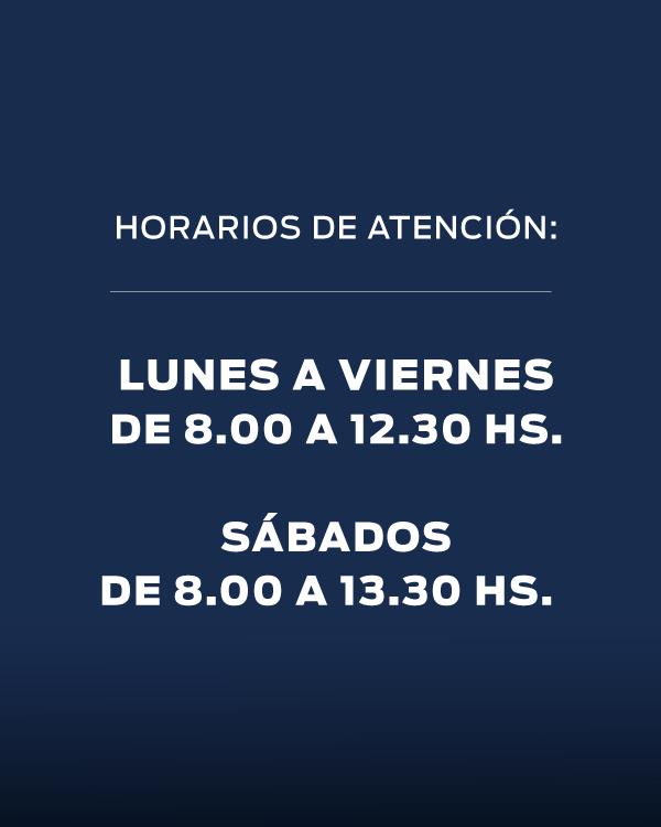 HORARIOS DE ATENCIÓN POSVENTA